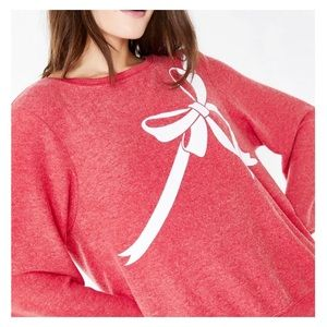 WILDFOX Red Gift Wrapped Baggy Jumper Sweatshirt